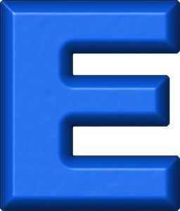 Alfabetos Lindos: Letras em PNG alfabeto azul moldes