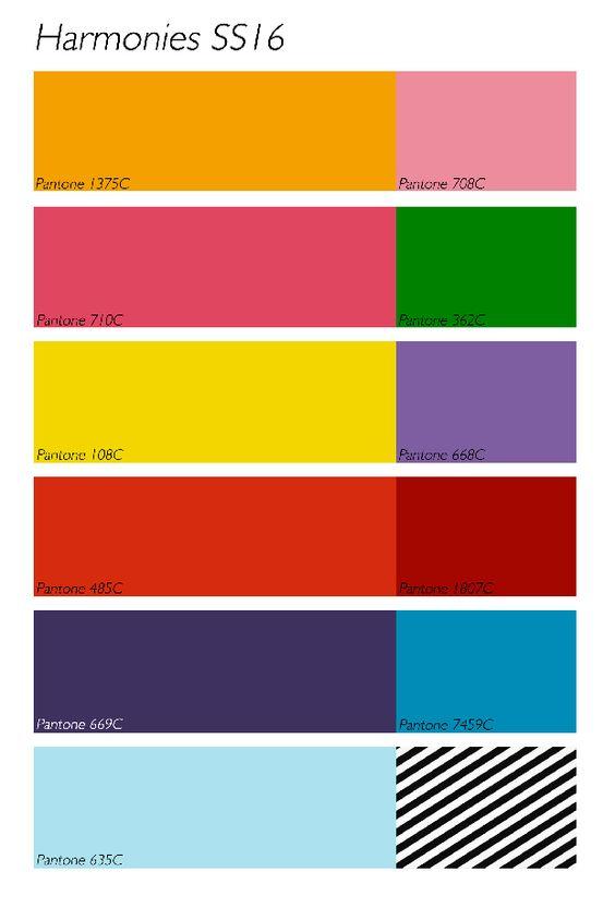 Gamme couleur printemps t 2016 pe 2016 2017 pinterest haute couture - Les couleurs tendances ...