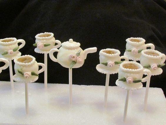 White teapot pops