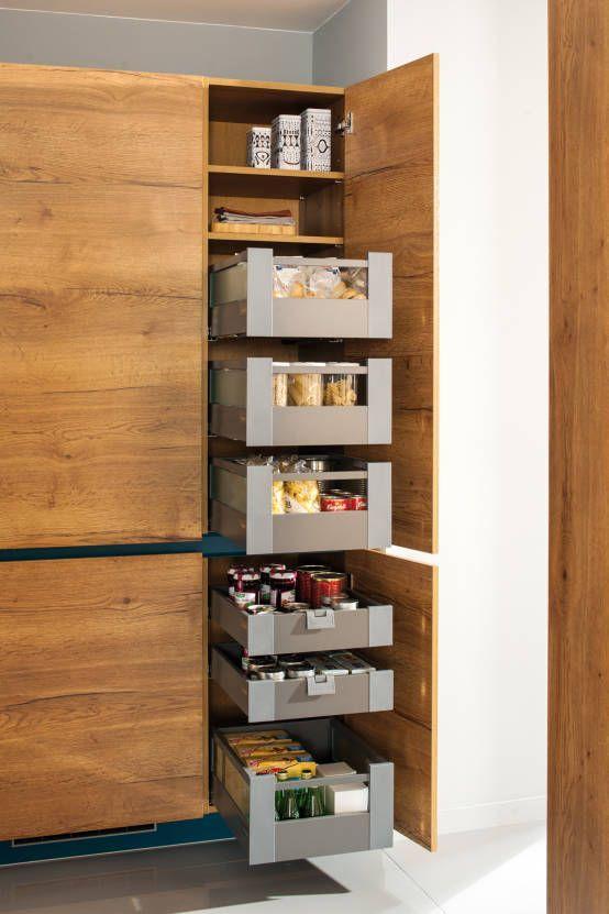Mehr Stauraum für Küchen Ausziebares Korbsystem  - ikea küchenblock freistehend