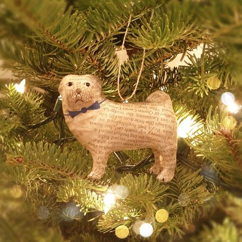 pug ornament @Ruth Ostler
