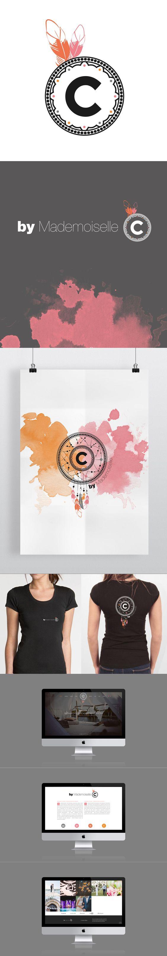 Logotype I Identité visuelle I Visual identity I Design by Crème de Papier I For By Mademoiselle C