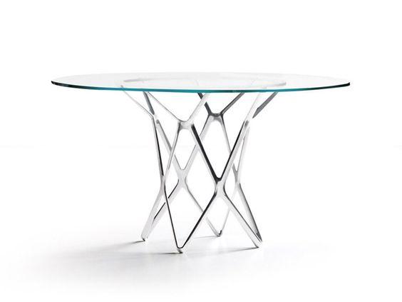 Table ronde en verre TORI   Table en verre - ESTEL GROUP