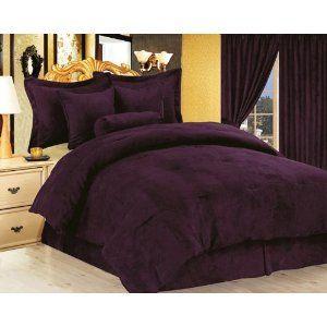 Dark Purple Oversized Bedding Love This Color Bedding
