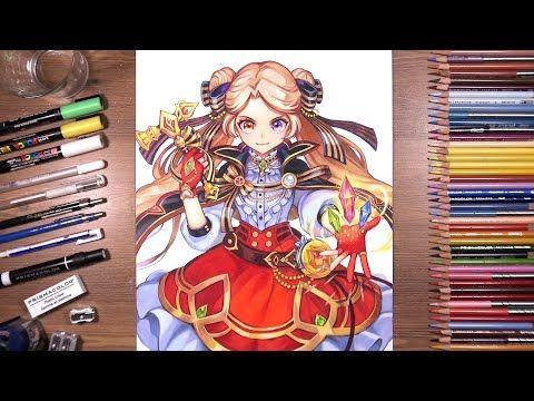 Drawholic Youtube Color Pencil Drawing Jewel Star Drawings