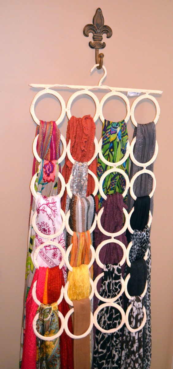 Scarf hanger! The hanging loop thing I found at Ikea, and I use it for all my scarves!! LOVE IT!!