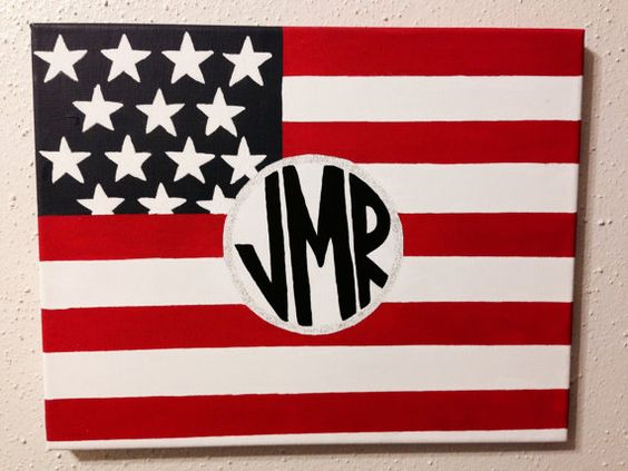 Monogrammed American Flag on Etsy, $15.00