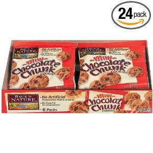 #7: Back to Nature Mini Chocolate Chunk Cookies, 1.25-Ounce Bags (Pack of 24)