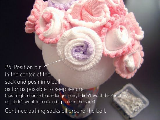Crazy for design baby sock topiary tutorial luv pinterest negle Image collections