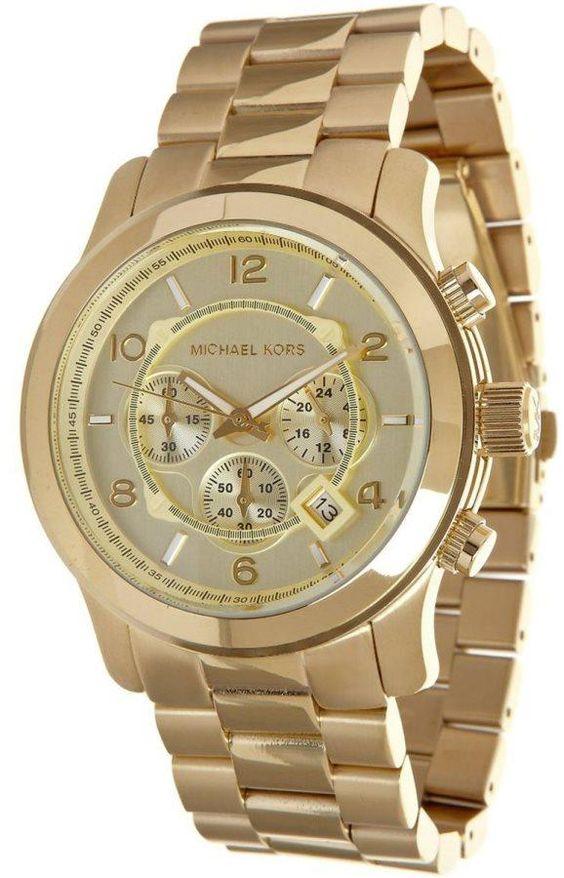 $150 Michael Kors Goldtone Mens Watch