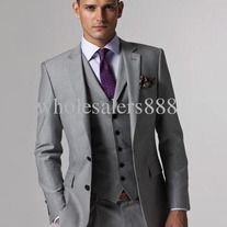 gray suit purple tie | Wedding Party for Cynthia's Wedding