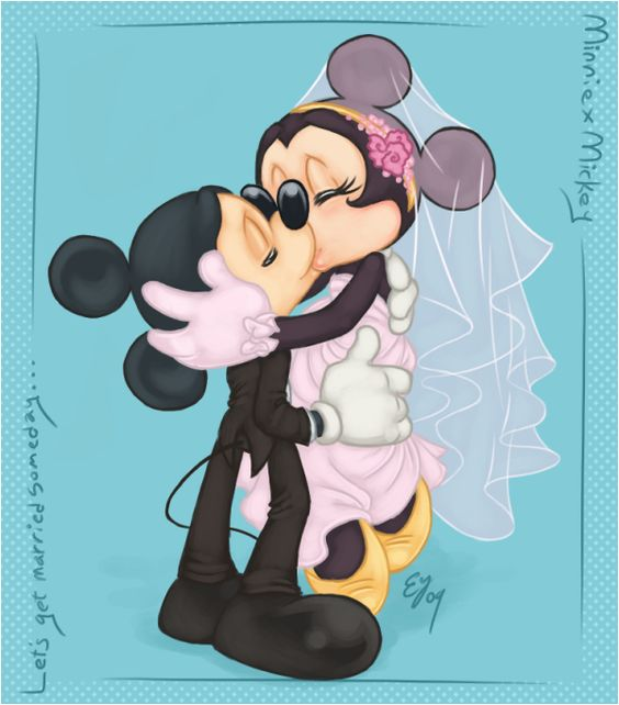love you love you love you | by Tell-Me-Lies @ DeviantART.com // #disney; mickey and minnie mouse
