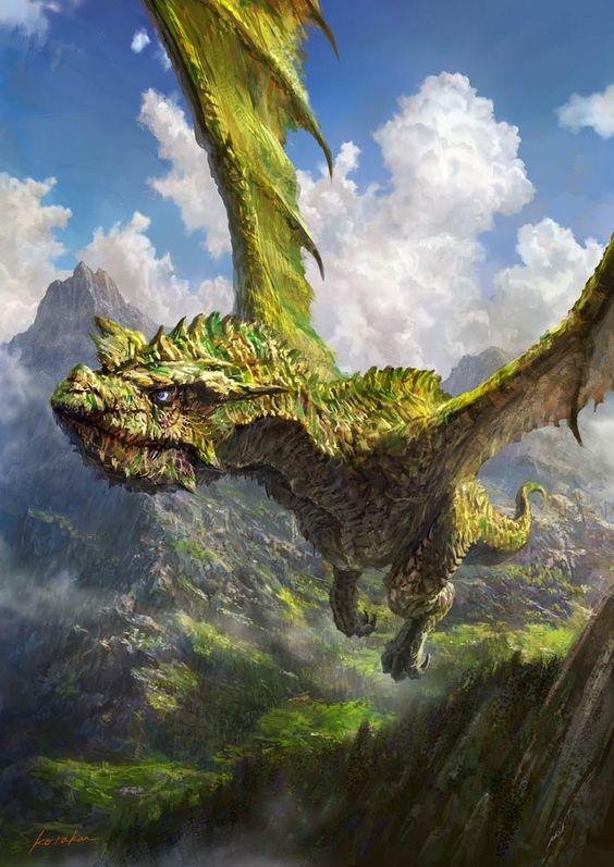 飛翔するドラゴンの壁紙