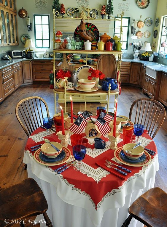4th Of July Table Setting And Decorating Ideas 4th Of July Decorations Christmas Table Decorations 4th Of July Celebration