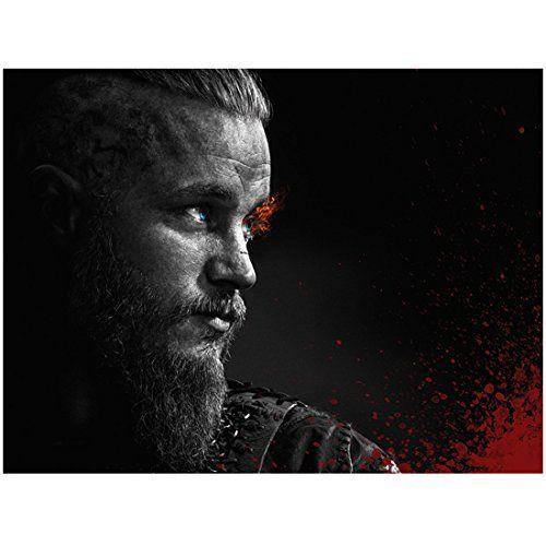 Vikings Travis Fimmel As Ragnar Lothbrok Looking With Fire In Eyes Promo 8 X 10 Photo Viking Wallpaper Ragnar Lothbrok Vikings Tv Series