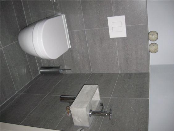 Solidus fontein toilet klein grijs beton nieuwe woning idee n pinterest toiletten deuren - Deco toilet grijs en wit ...