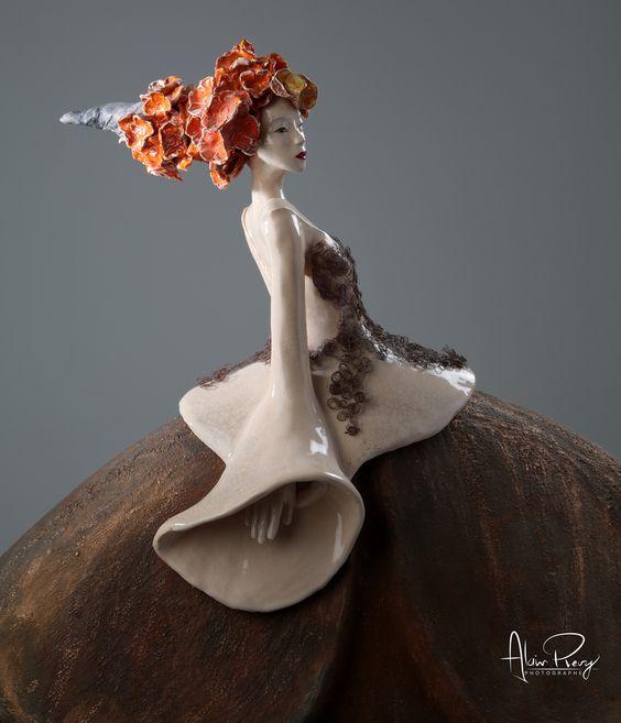 Sculpture Fille Coquelicot 2017 Pauline Wateau