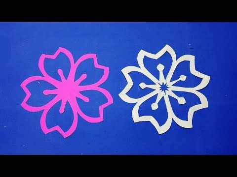 Paper Flowers How To Make Simple Paper Cutting Flower Designs Step