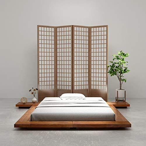 Festnight Japanese Style Futon Bed Frame Solid Wood Sheesham Finish 1 4x2m Festnight Futon Bed Frames Low Bed Frame Japanese Bed Frame