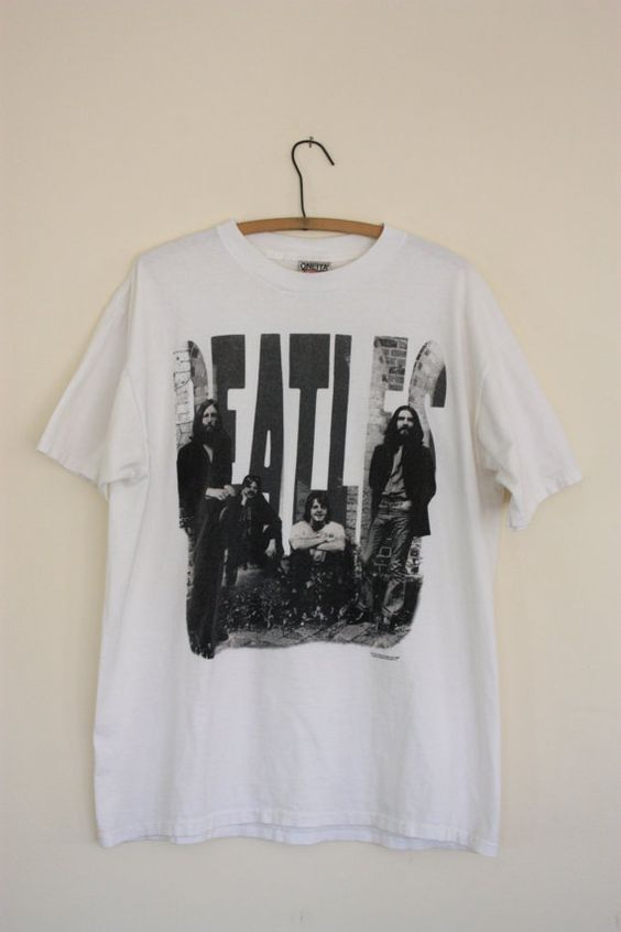 Vintage Black White and Gray Cotton Beatles TShirt by SloppyJos, $18.00