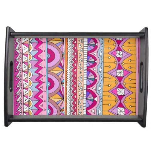 Tribal Lines #2 - Serving Tray