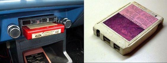 Ancienne cassettes 8 piste, sur ruban
