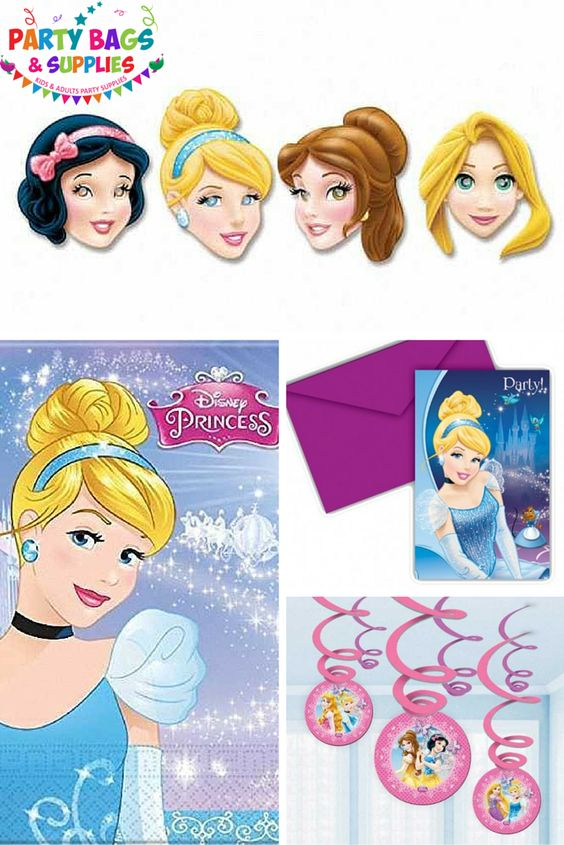 Have a great Disney Princess themed party with our Princess Party Supplies range! Featuring tableware, decorations, invites, pre filled party bags and more! Cinderella, Belle, Snow White and Rapunzel are ready to party, are you? To see the full range, click here - https://www.partybagsandsupplies.co.uk/themes/disney-princess-sparkle