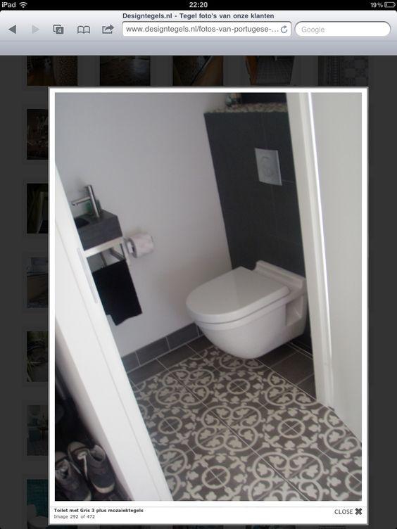 Toilet met portugeese tegels project bathroom pinterest toilets and met - Wc tegel ...