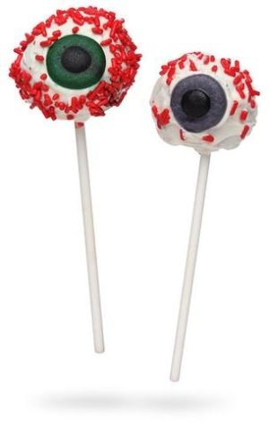 Spooky Eyeballs Cake Pops! so cool! by suddenlybrenda