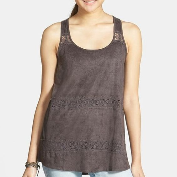 NWT faux suede shale tank top NWT faux suede shale tank top Size S super soft & cute!! Sun & Shadow From Nordstrom Tops