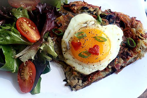 ... rosti rosti with bacon and scallions recipe dishmaps rosti with bacon