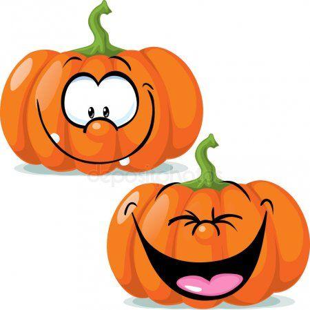 Graciosos Personajes Calabaza Ilustracion Vectorial Halloween Pumpor Malade Pumpor Halloween Ritningar