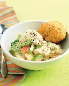 Lighter Chicken and Biscuits - Martha Stewart Recipes