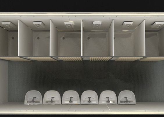 Flat Pack House For Movable Toliet