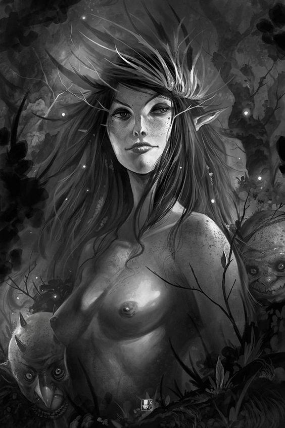 Dark Faeries Wood 2, Xavier Collette on ArtStation at https://www.artstation.com/artwork/dark-faeries-wood-2