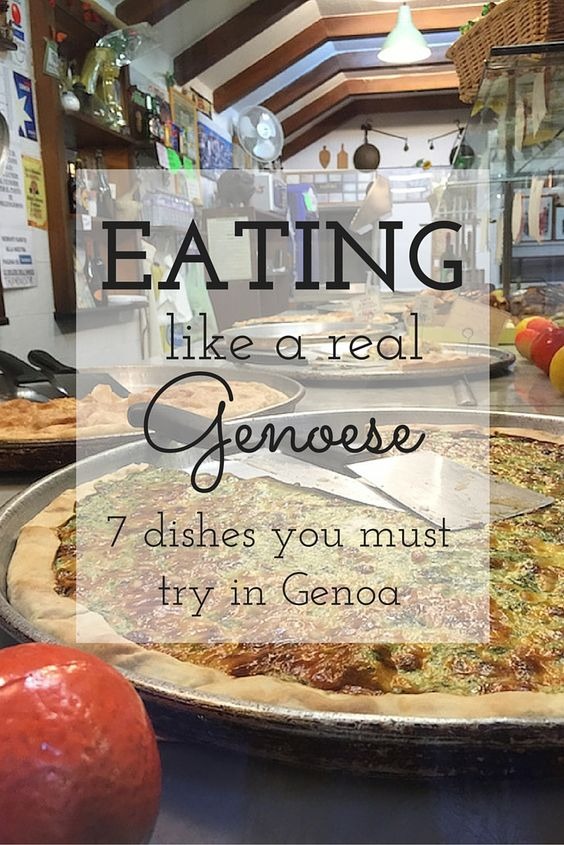 Typical dishes you'll find in Genoa, Italy. More than just pesto!