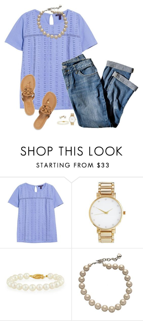 """""""Spring Fever"""" by sc-prep-girl on Polyvore featuring Violeta by Mango, J.Jill, ASOS, Tory Burch, Belpearl, Carolee, women's clothing, women, female and woman"""