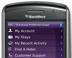 Csc And Starwood Hotels Resorts Recently Developed The Preferred Guest Spg So Members With A Blackberry Smartphone Can Book Keep