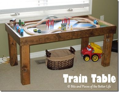 Train table trains and tables on pinterest Train table coffee table