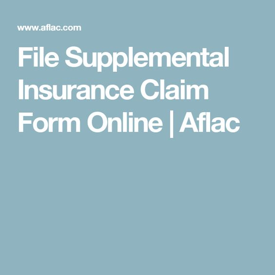 File Supplemental Insurance Claim Form Online  Aflac  Benefits