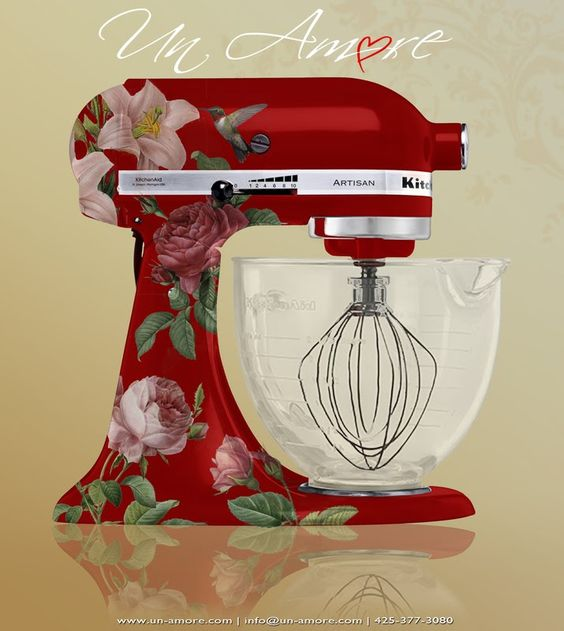 Pioneer Woman KitchenAid Mixer Decals | oh, to have this in my mary engelbreit red kitchen that