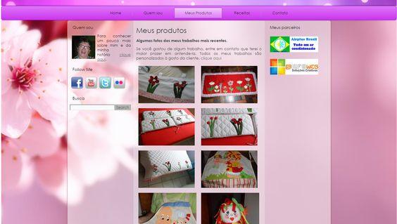 Página de produtos do site Mariartesanato