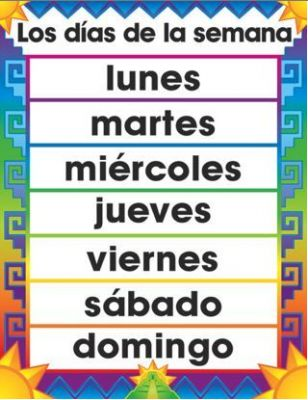 Calendar Days Of The Week In Spanish.Spanish Day Months Seasons Lessons Tes Teach