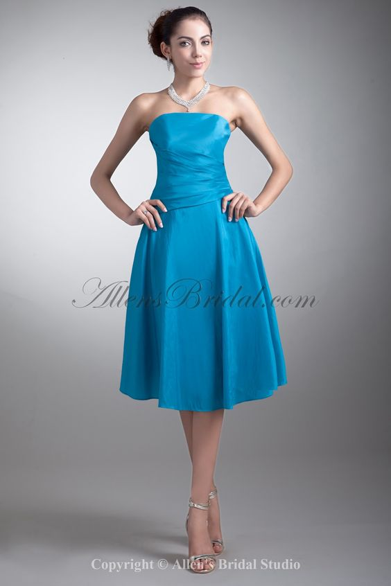 Taffeta Strapless Neckline Knee Length A-line Cocktail Dress on sale at affordable prices, buy Taffeta Strapless Neckline Knee Length A-line Cocktail Dress at AllensBridal.com now!