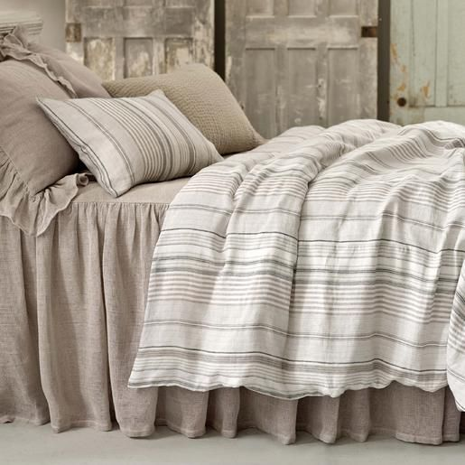 Pine Cone Hill | Gradation Linen Duvet Cover | Made in the shades of slate, dune, ivory, and sand, our linen duvet brings neutral to the next level.