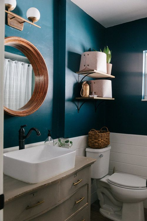 Benjamin Moore Dark Harbour Bathroom Design Simple Bathroom Decor Small Bathroom