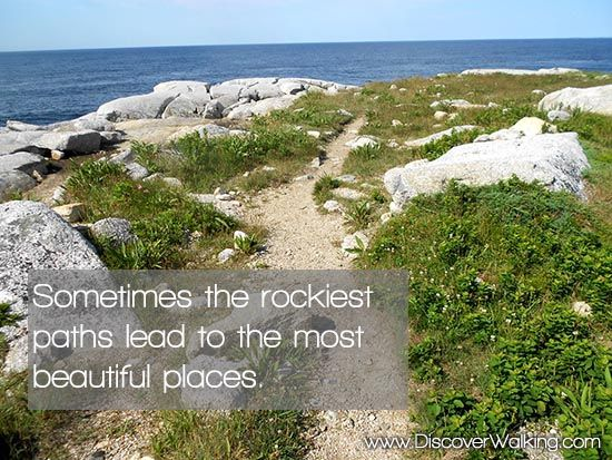 Sometimes the rockiest path leads to the most beautiful places in Nova Scotia, Canada.  #quote #hiking