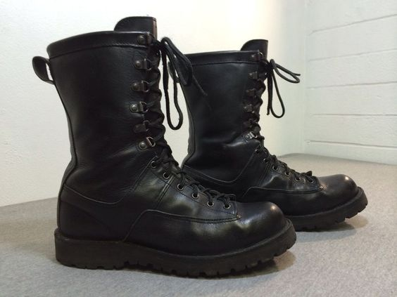 DANNER Boots FORT LEWIS 29110 Combat Black Leather Gore-Tex Vibram