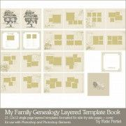 My Family Genealogy Layered Template Book by Katie Pertiet
