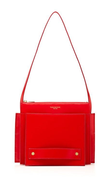Small Folder Calf Leather Bag by Thom Browne - Moda Operandi
